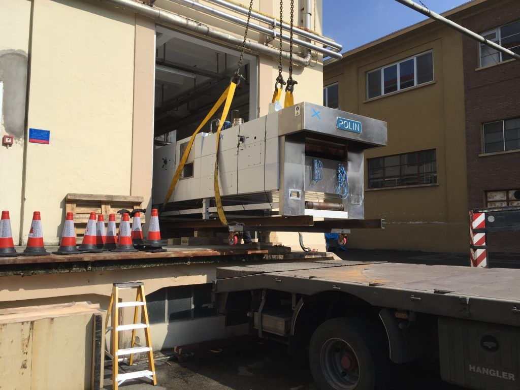 Machine relocation services Adbro Controls.