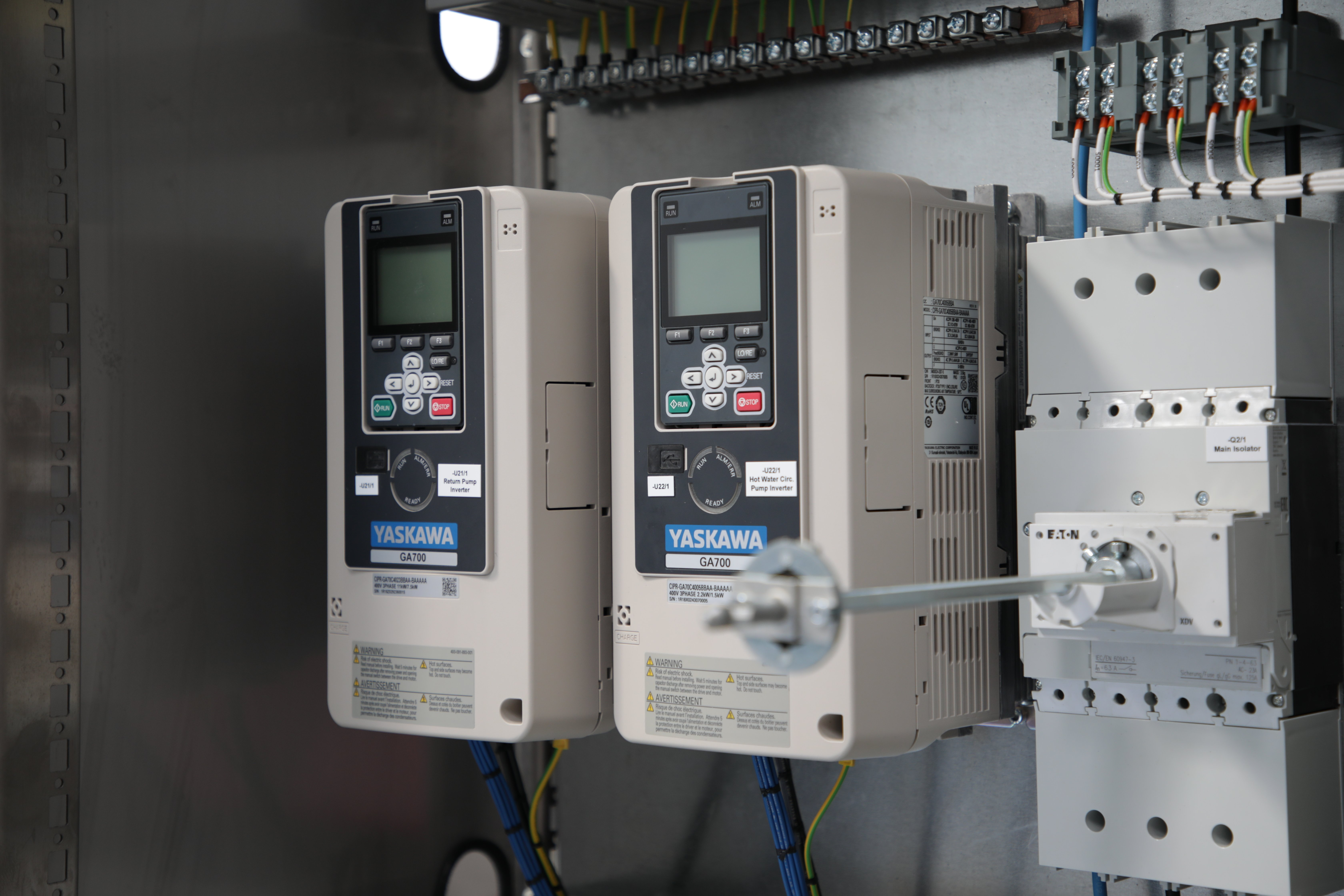 PLC Controller in Electrical Panel