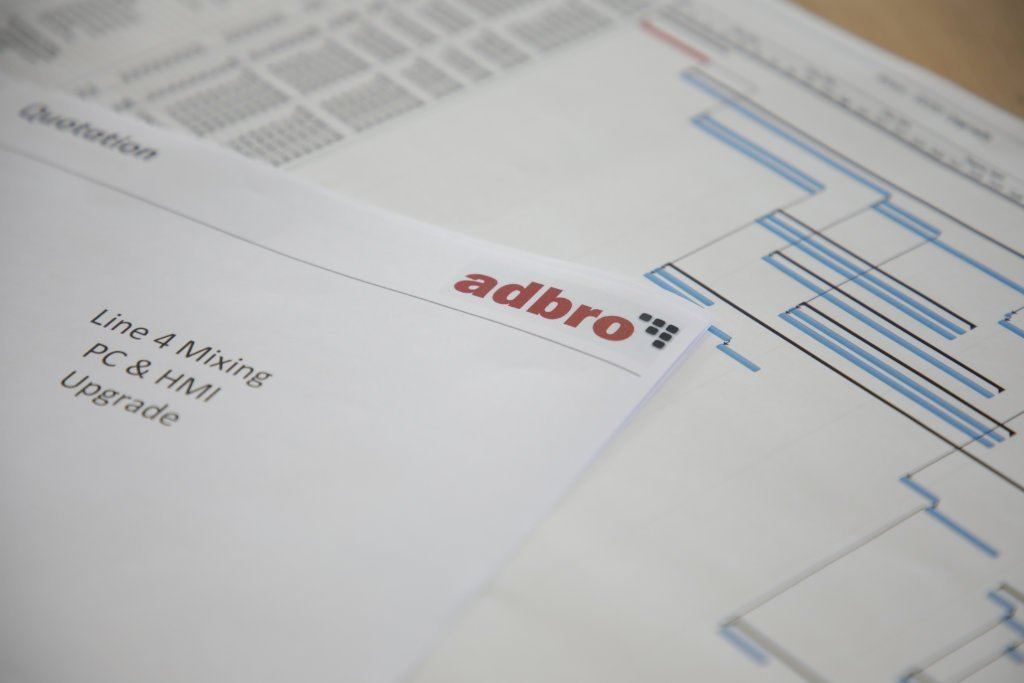 Adbro Controls Quotation paperwork