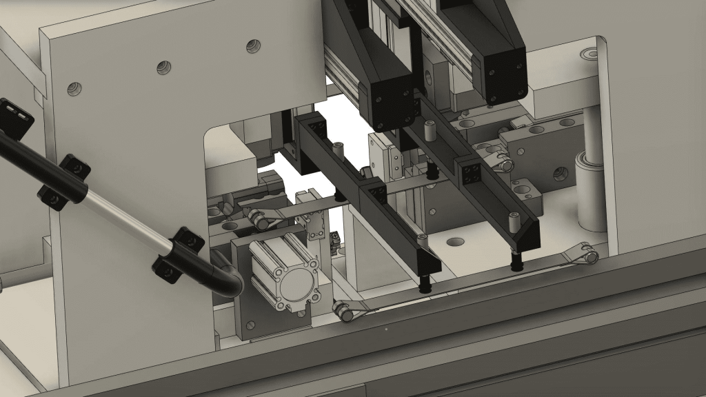Close up Bandline trunnion machine CAD drawing