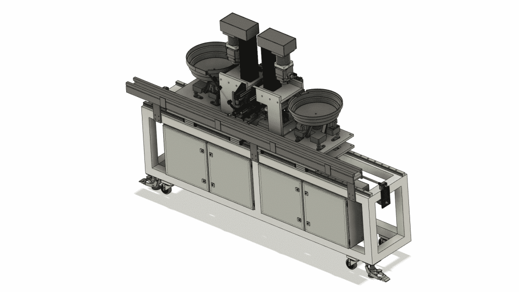Bandline trunnion machine CAD drawing